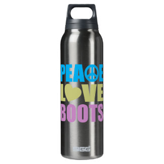 Peace Love Boots 16 Oz Insulated SIGG Thermos Water Bottle