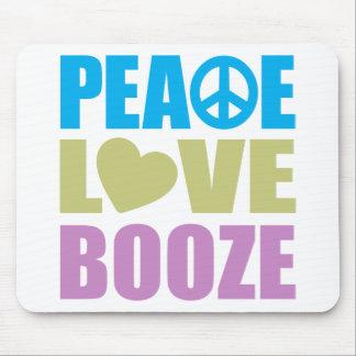 Peace Love Booze Mouse Pads