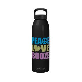Peace Love Booze Reusable Water Bottle