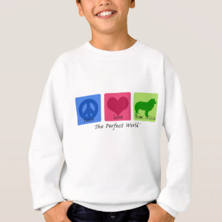 Peace Love Border Collie Sweatshirt
