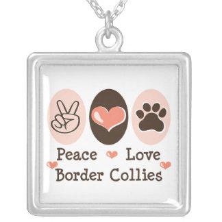 Peace Love Border Collies Necklace