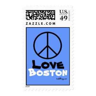 Peace Love Boston Custom Postage Stamp
