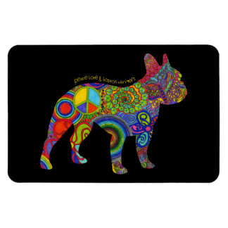 """Peace Love & Boston Terriers"" Pop Art Magnet"