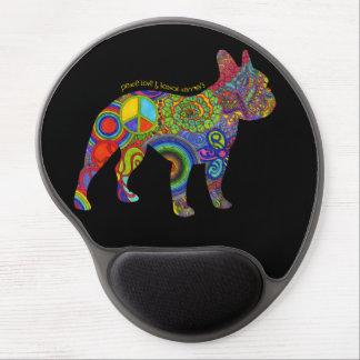 """Peace Love & Boston Terriers"" Pop Art Mousepad"