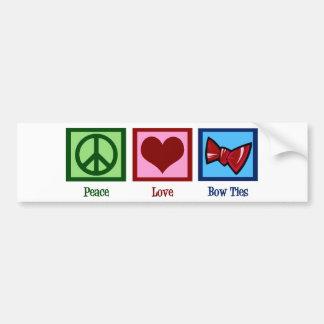 Peace Love Bow Ties Bumper Sticker