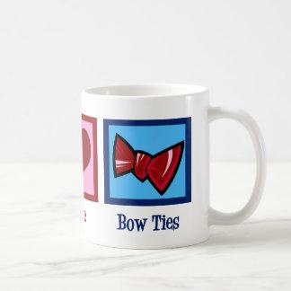 Peace Love Bow Ties Coffee Mug