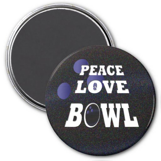 Peace Love Bowl Magnets