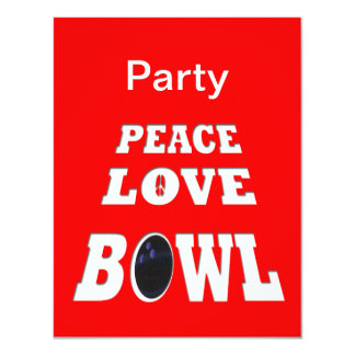 Peace Love Bowl Party Card