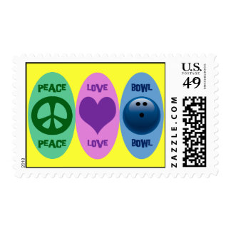 PEACE LOVE BOWL POSTAGE STAMPS