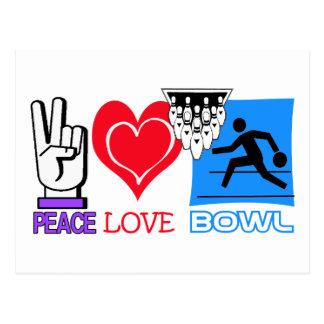PEACE LOVE BOWL POSTCARD