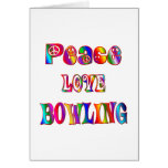 Peace Love Bowling Cards