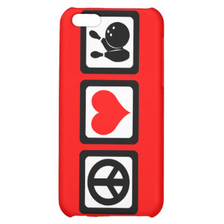 peace love bowling case for iPhone 5C