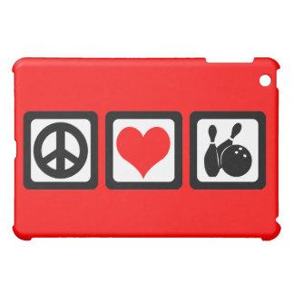 peace love bowling case for the iPad mini