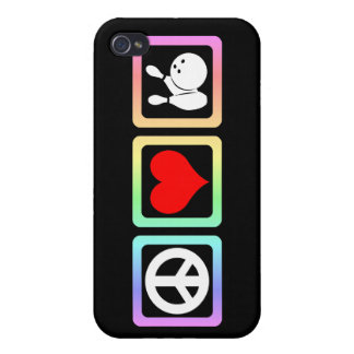 peace love bowling cases for iPhone 4