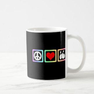 Peace love bowling classic white coffee mug