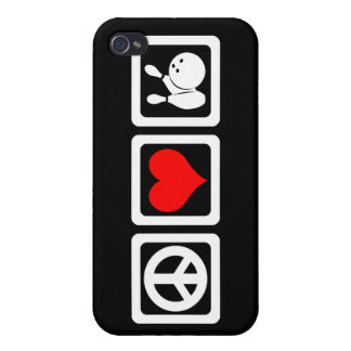 peace love bowling covers for iPhone 4