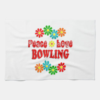 Peace Love Bowling Hand Towels