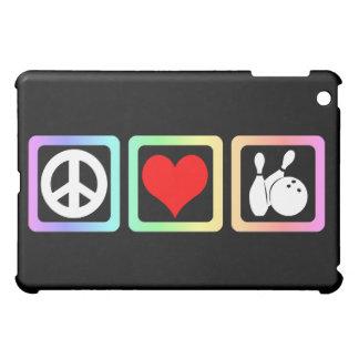 peace love bowling iPad mini cover