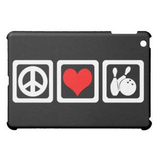 peace love bowling iPad mini covers