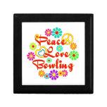 PEACE LOVE Bowling Keepsake Boxes