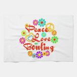 PEACE LOVE Bowling Kitchen Towels