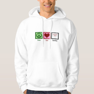 Peace Love Bowling League Hooded Pullover