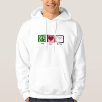 Peace Love Bowling League Hoodie