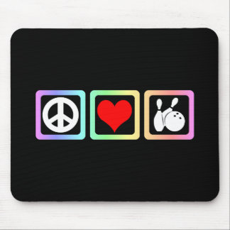 Peace love bowling mouse pad