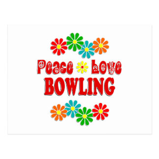 Peace Love Bowling Postcard