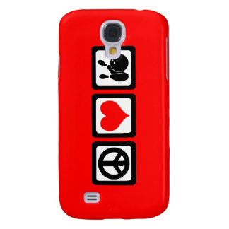 peace love bowling samsung galaxy s4 cases