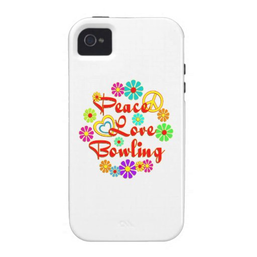 PEACE LOVE Bowling Vibe iPhone 4 Cases