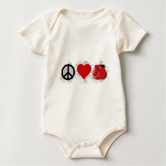 Peace Love Box Emblem Baby Bodysuit