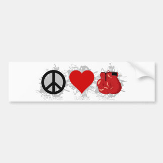 Peace Love Box Emblem Bumper Sticker
