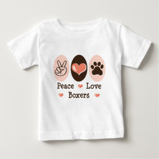 Peace Love Boxers Baby Tee Shirt