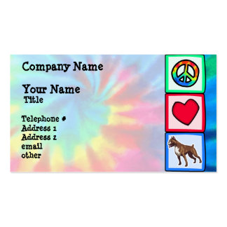 Peace, Love, Boxers Business Card Templates