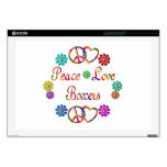 PEACE LOVE BOXERS LAPTOP DECAL