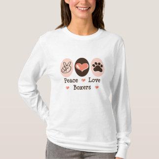 Peace Love Boxers Long Sleeve Tee Shirt