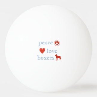 Peace Love Boxers Ping-Pong Ball
