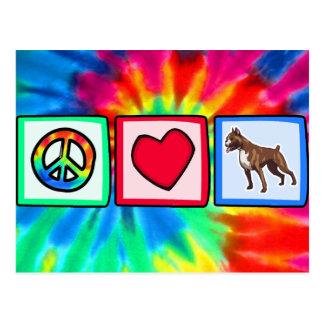 Peace, Love, Boxers Postcard