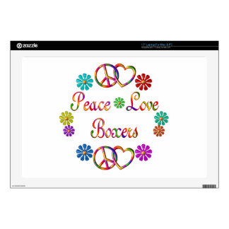 "PEACE LOVE BOXERS SKIN FOR 17"" LAPTOP"