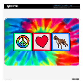 Peace, Love, Boxers Skin For MacBook