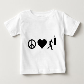 Peace Love Boxing Baby T-Shirt