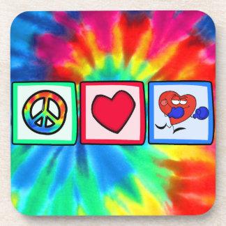 Peace, Love, Boxing Beverage Coaster