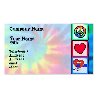 Peace, Love, Boxing Double-Sided Standard Business Cards (Pack Of 100)