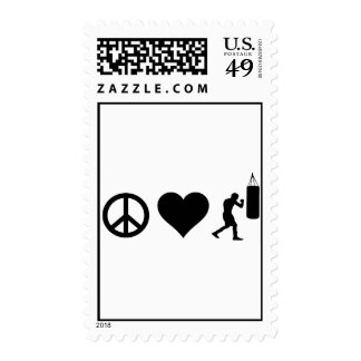 Peace Love Boxing Postage