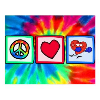 Peace, Love, Boxing Postcard