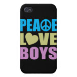 Peace Love Boys Covers For iPhone 4
