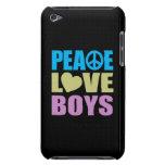 Peace Love Boys iPod Case-Mate Case