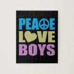 Peace Love Boys Jigsaw Puzzles