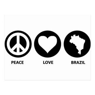 Peace Love Brazil Postcard